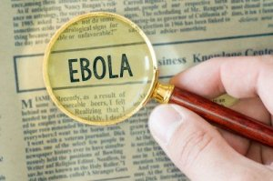 EBOLA magnifieng glass